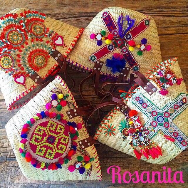 ☀️ETHNIC SUMMER☀️ Paniers SQUAW Hand Made With Love Pièces Uniques En…