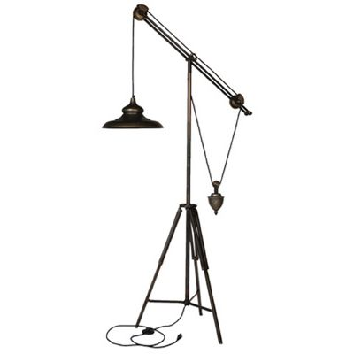 Arris Balanced-Arm Tripod Floor Lamp (174cm).