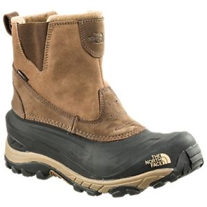 The North Face Chilkat II Pull-On Insulated Waterproof Pac Boots for Men - Demitasse Brown/Sepia Brown -