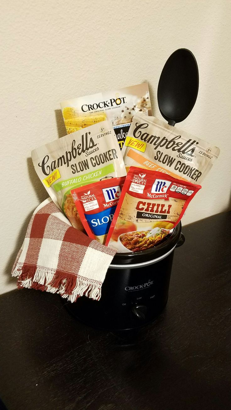 Crockpot /kitchen Dinner Gift Basket. Silent auction fundraiser for work (2016)