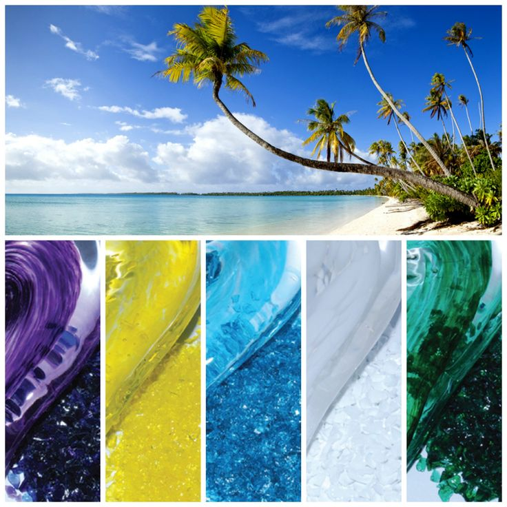 A gorgeous selection of crystal colours for a wedding in dreamy Martinique!  Purple, yellow, blue, white and green. What colour is your love story? www.unityinglass.eu