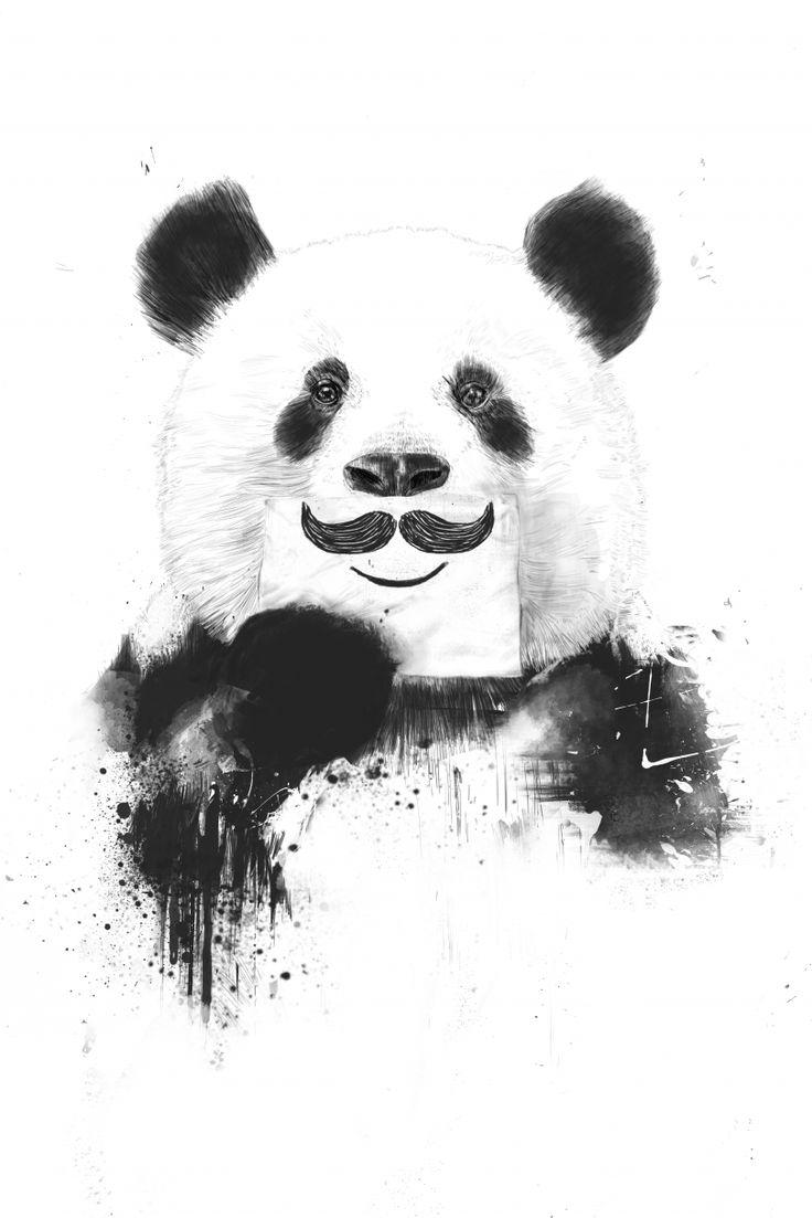 Nous aimons beaucoup Funny Panda de Balazs Solti. Mais qu'il est mignon ce gros panda au pelage touffu ! Et il ne manque pas d'humour, avec son sourire surmonté d'une moustache qu'il tient du bout des doigts. Comme Kate Moss, Barack Obama, Will Smith, Karl Lagerfeld, Katy Perry et bien d'autres encore, Funny Panda se prête lui aussi à l'exercice du « Life Is A Joke». Grâce à Balazs, on va finir par très bien s'y connaître en pandas ! On verrait bien cette œuvre dans une chambre d'enfant…
