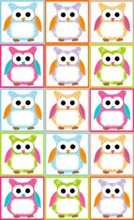 Owl Label Freebie