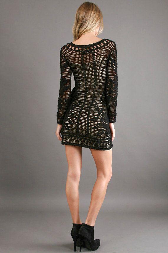CROCHET FASHION TRENDS exclusive crochet mini by LecrochetArt