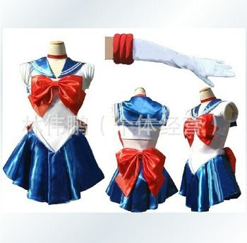 New Anime Pretty Soldier Sailor Moon Cosplay Costume female halloween party ,fantasia women dress