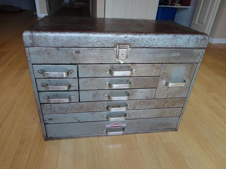 Mechanics 8 Drawer Tool Box Chest Roller Cabinet: Craftsman Tool Cabinet -- 1960s?