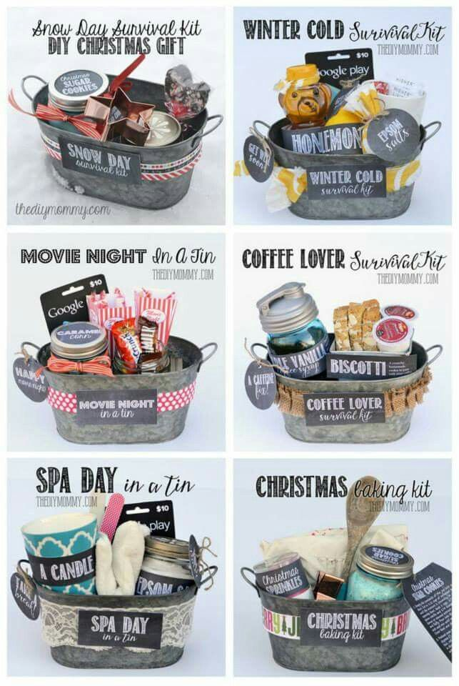 Gift basket ideas! Cute way to save money!