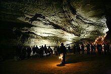 Mammoth Cave National Park is a U.S. National Park in central Kentucky, encompassing portions of Mammoth Cave, the longest cave system known in the world.