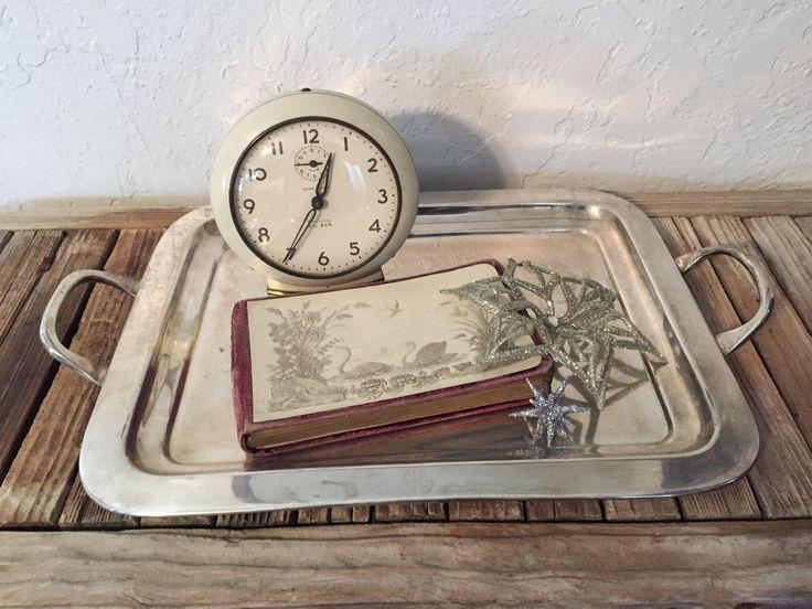 Vintage Pottey Barn Silver Platter SHS by NostalgicNuance on Etsy https://www.etsy.com/listing/564048898/vintage-pottey-barn-silver-platter-shs