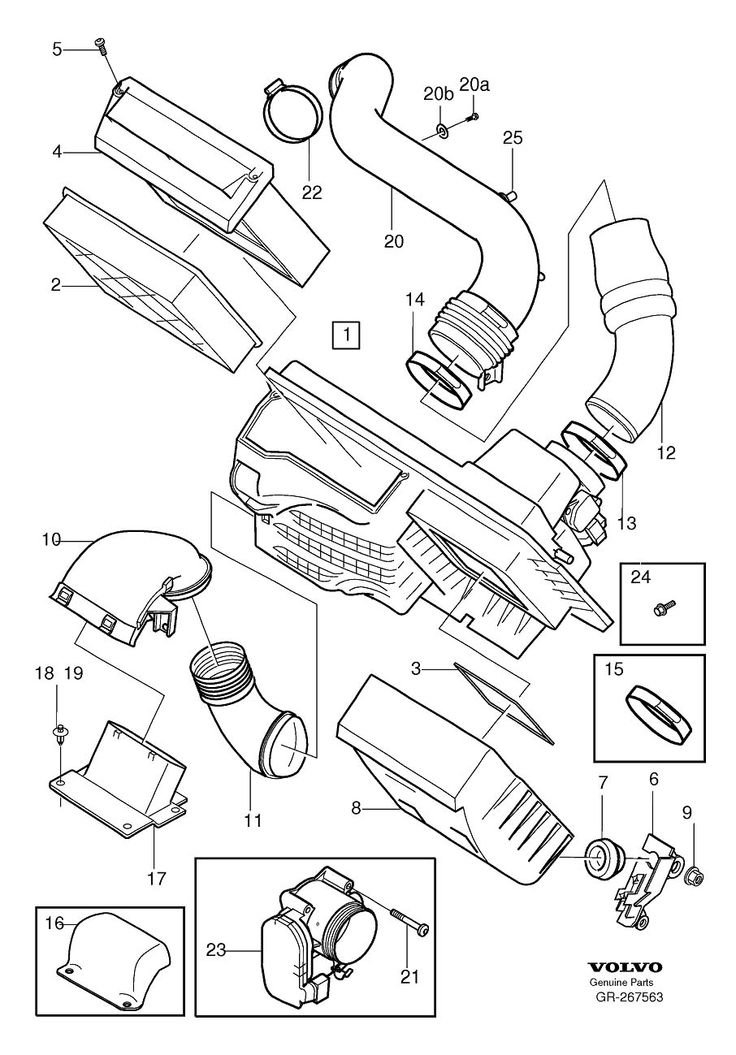 volvo s40 engine parts diagram