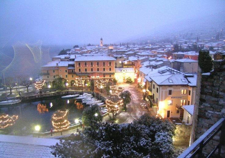 Christmas with the snow at Torri del Benaco