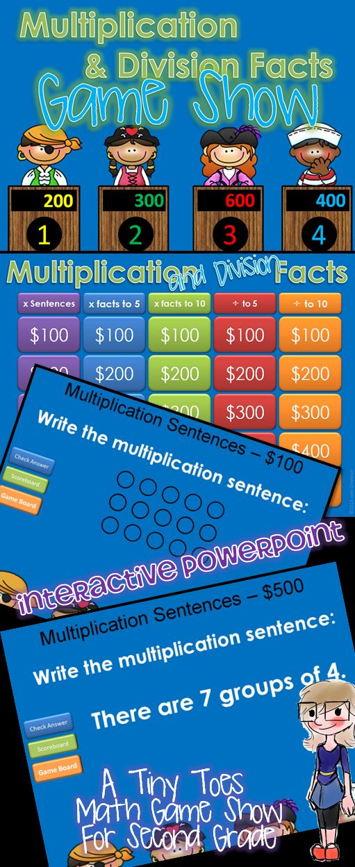 24 best multiplication games images on Pinterest School - sample jeopardy powerpoint