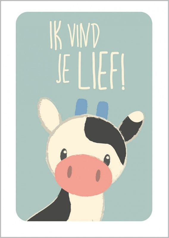 Poster Koe nieuw bij HippeKidsKamer!
