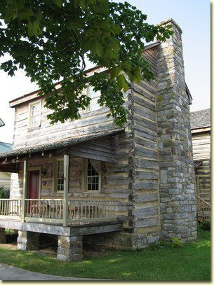 The Owen Neel Log Cabin at the Monroe County Historical Museum in Virginia