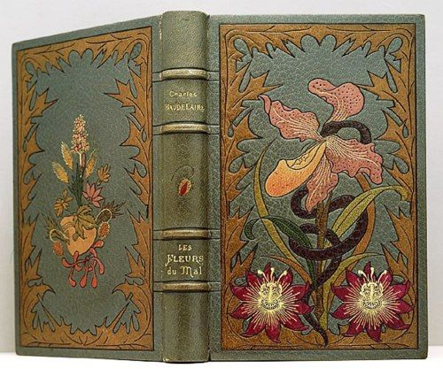 ≈ Beautiful Antique Books ≈ Les Fleurs du mal (The Flowers of Evil). A volume of Poetry by Charles Baudlaire first published in 1857.