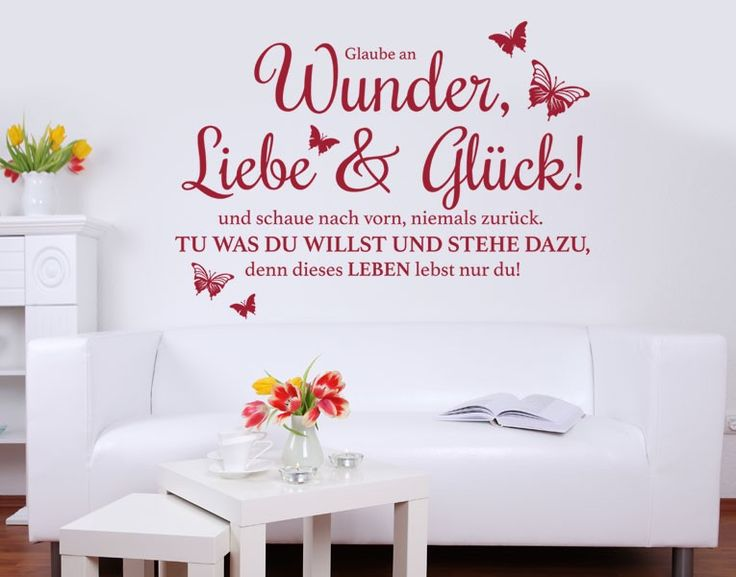 26 best Wandtattoo images on Pinterest Proverbs quotes, Sayings - wandtattoos schlafzimmer sprüche