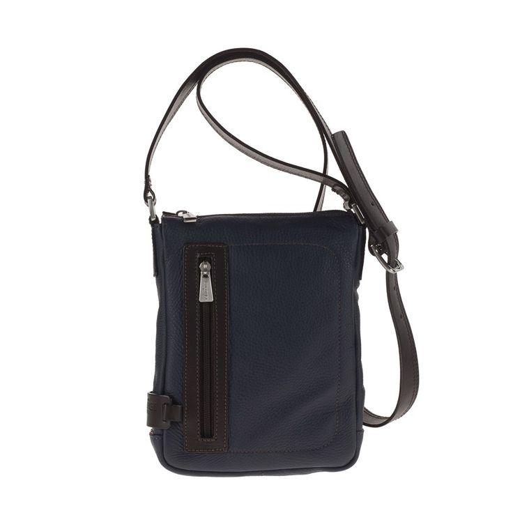CHIARUGI - Borsa Tracolla in pelle Unisex 72561 blu #leatherbag
