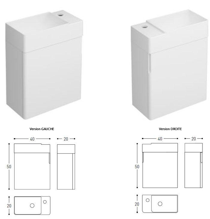 Lave-mains meuble 40x20 Fancy