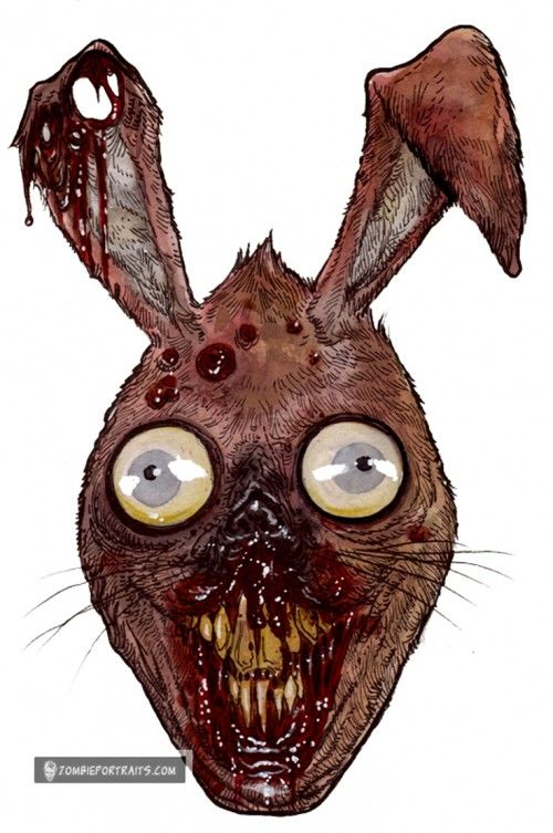 129 best easter all zombie easter images on pinterest plants vs zombie easter bunny head of the living dead repost zombie art by rob sacchetto negle Image collections