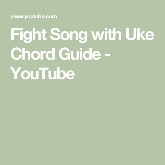 Fight Song with Uke Chord Guide - YouTube