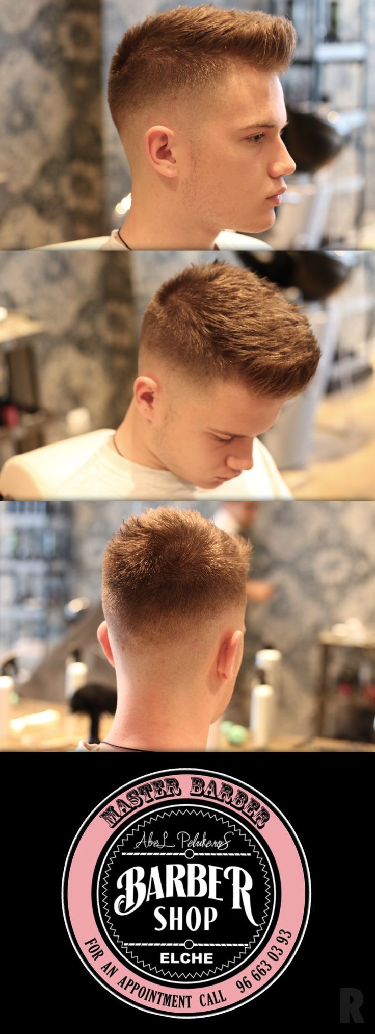 Corte de pelo realizado en peluqueria Abelpelukeros ELCHE® #Peluqueria #Hombre…