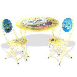 SpongeBob SquarePants 3-Piece Table and Chair Set @ niftywarehouse.com #NiftyWarehouse #Spongebob #SpongebobSquarepants #Cartoon #TV #Show