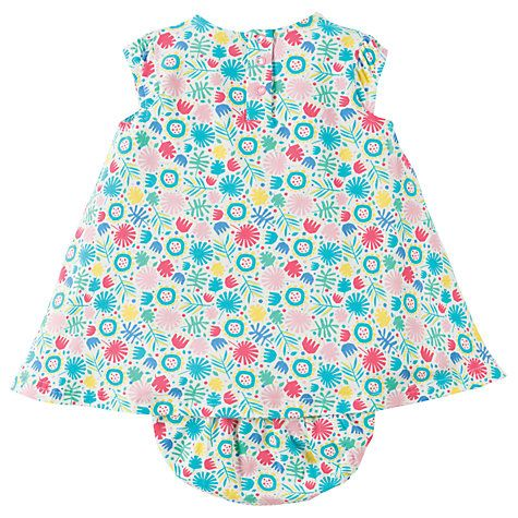 Buy Frugi Organic Baby Penny Jungle Jam Dress & Knickers Set, Blue Online at johnlewis.com