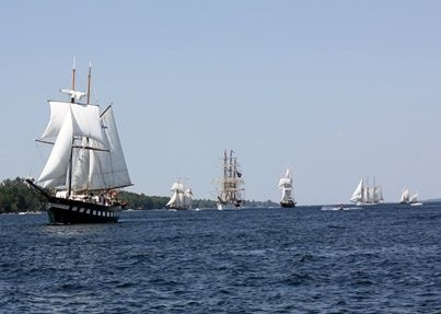 Tall Ships 1812 near Brockville Ontario on the St. Lawrence River  #Brockville #MLI #ESL #LearnEnglish #Canada #ON #Homestay #StudyinCanada