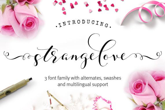 Script font - strangelove Font - Calligraphy font - Wedding font - swash font - can be used in a photography logo