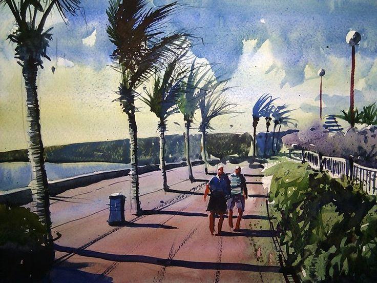 Meloneras Gran Canaria #watercolor