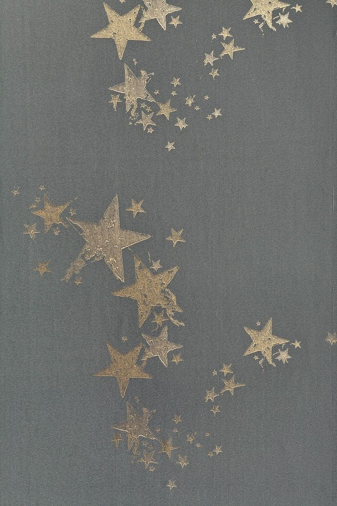 But in a lighter, neutral color. Gorgeous star wallpaper design by Barneby Gates.