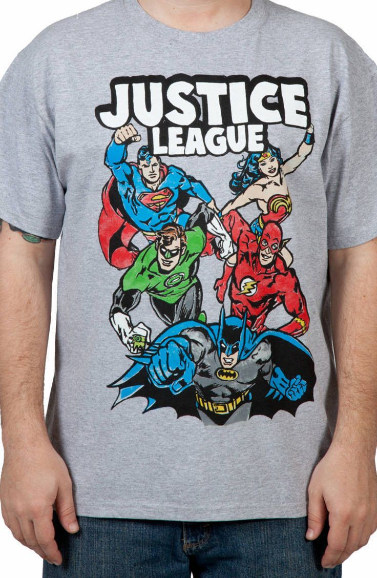 Justice League Shirt: Super Heroes Justice League T-shirt
