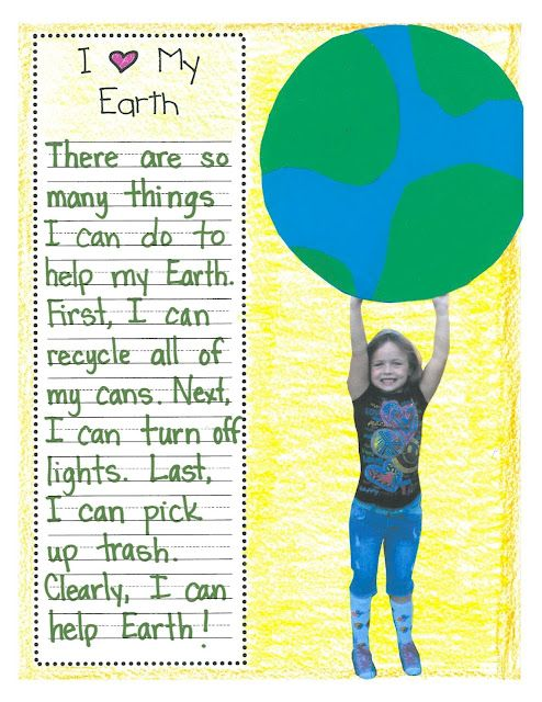Cute Earth Day writing/art project!