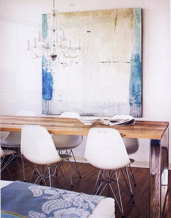 1000 images about Farmhouse table with modern chairs on Pinterest