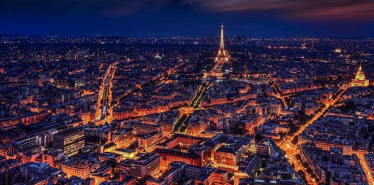 Paris, Frankrig, Eiffeltårnet, Nat, Nat Paris, By