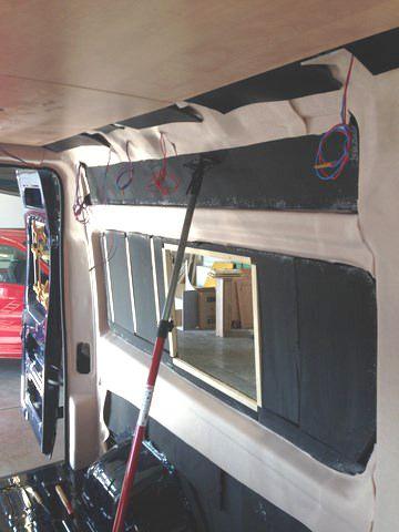 kastenwagen verkleidung innenraum campingbus camper. Black Bedroom Furniture Sets. Home Design Ideas