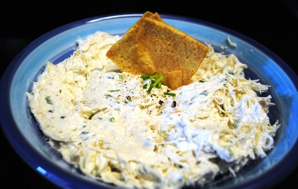 Paula Deen Serves: 12-15 2 8-ounce packages cream cheese, softened 1/2 cup sour cream 3 tablespoons minced chives 2 tablespoons minced fresh parsley 1 tablespoon prepared horseradish 4 teaspoons fr…