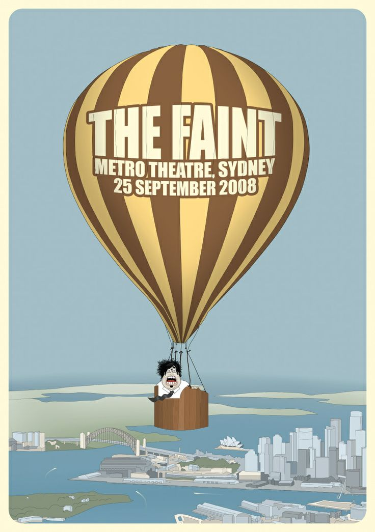 The Faint Gig Poster - Dagron / Graphic Design and Illustration by Bjørn Andreas Maurseth
