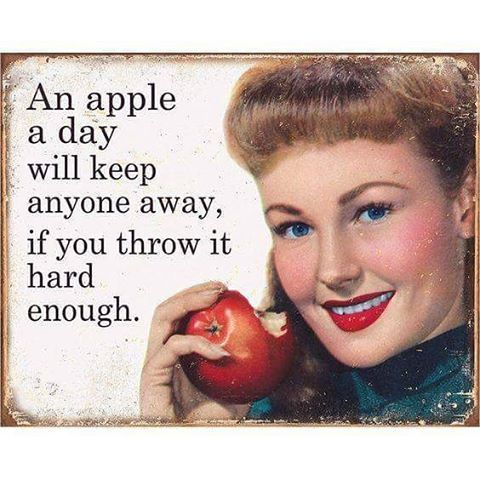 Tin signs for sale at Rouge Boutique Half Moon Bay #sarcasm #retrohumor #redapple #rougeboutiquehmb
