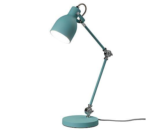 Lampada da tavolo in acciaio turchese Lexi, 31x41x24 cm