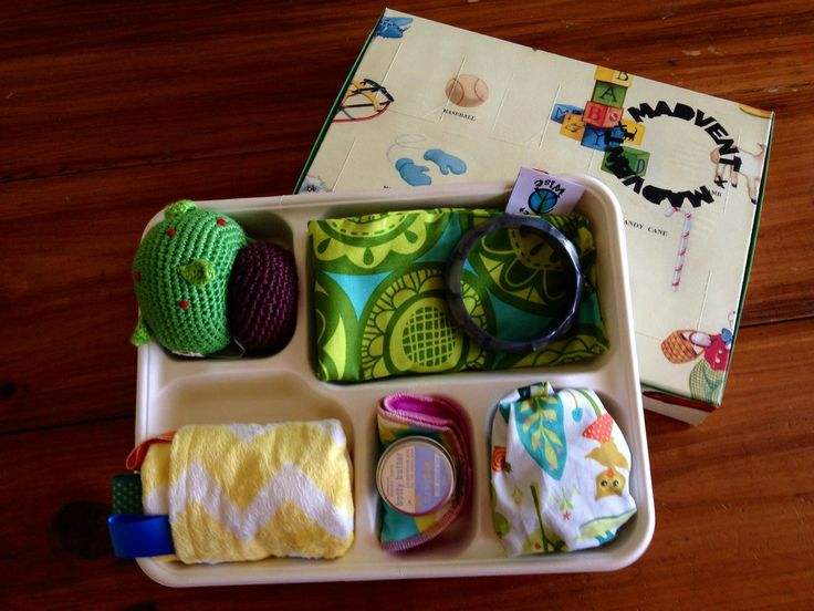 Madvent baby calendar ready to be sealed in it's box