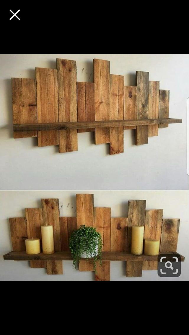 Pin By Frog On Madera Pallet Wall Decor Wood Pallet Wall Pallet Wall Shelves