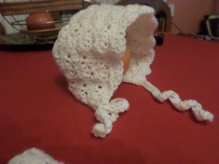 baby bonnet crochet