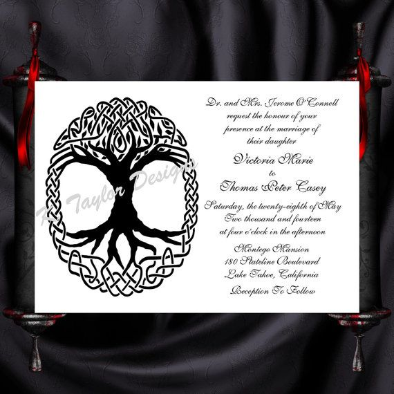 Tree Of Life Invitation Rsvp Celtic Life By: 17 Best Ideas About Celtics Life On Pinterest