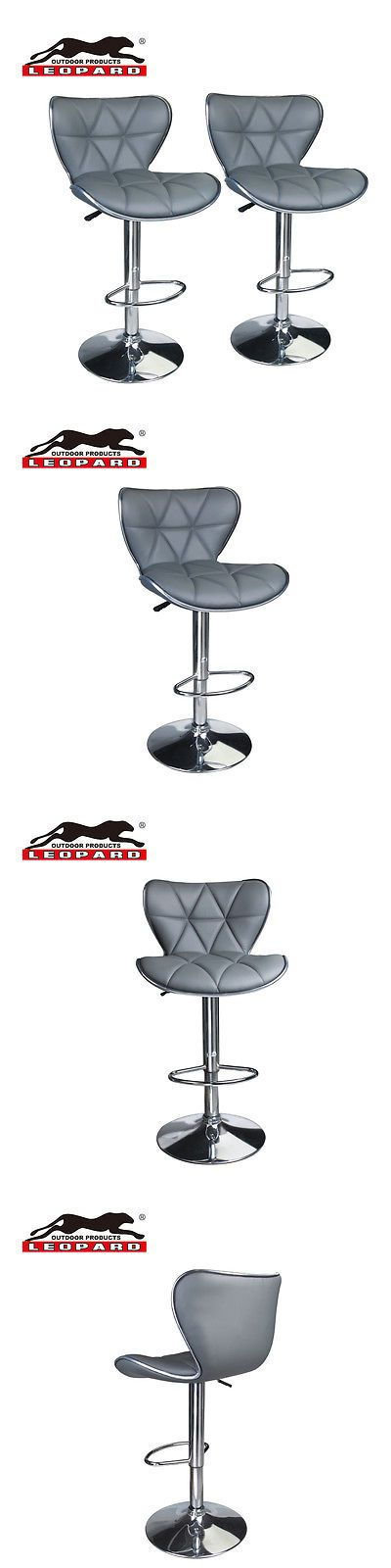 Bar Stools 153928: Leopard Outdoor Shell Back Adjustable Bar Stools, Set Of 2, Grey -> BUY IT NOW ONLY: $89.99 on eBay!