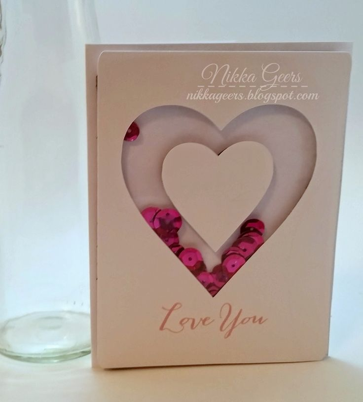 Create your Vision: Create Your Card - Create An Outline Shaker Card love you happy to be friends pixie sequins heart Art Philosophy close to my heart ctmh