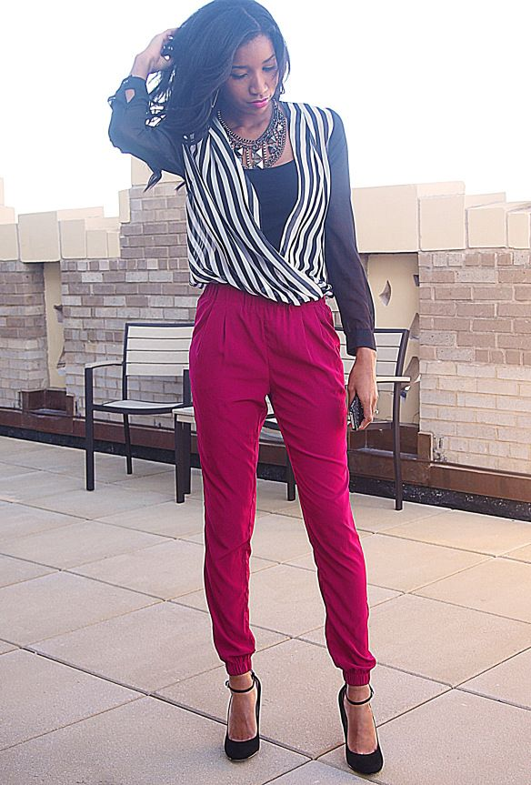 sheer stripes1 Sheer Stripes + FRO Fashion Week