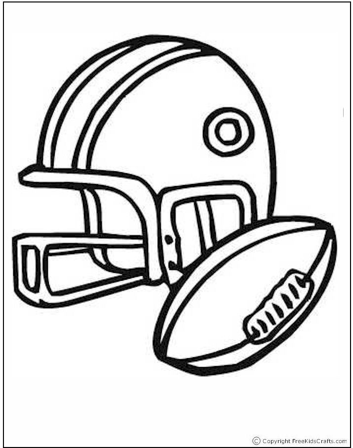 free kids crafts sports coloring pages - Football Printable Coloring Pages