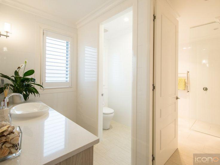 Stunning 3 way bathroom! #bathrooms #iconobuildingdesign #3waybathroom #indoorplants #decor