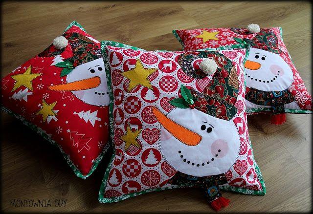 Montownia Ody - świąteczna poduszka z bałwankiem